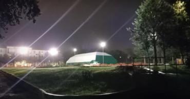 Il campo coperto
